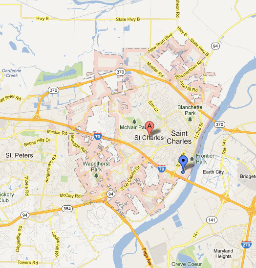Appliance Repairs In St Charles Mo Map Service Coverage Areas